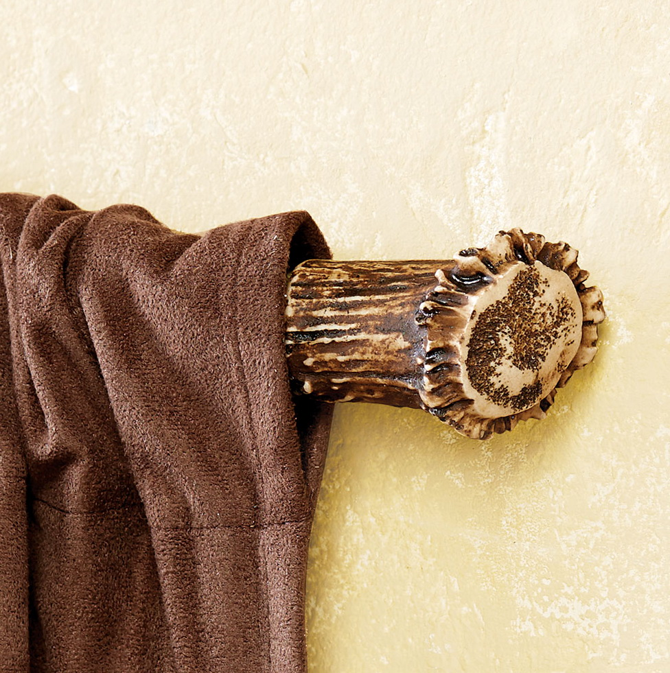 Rustic wood curtain rods home design ideas