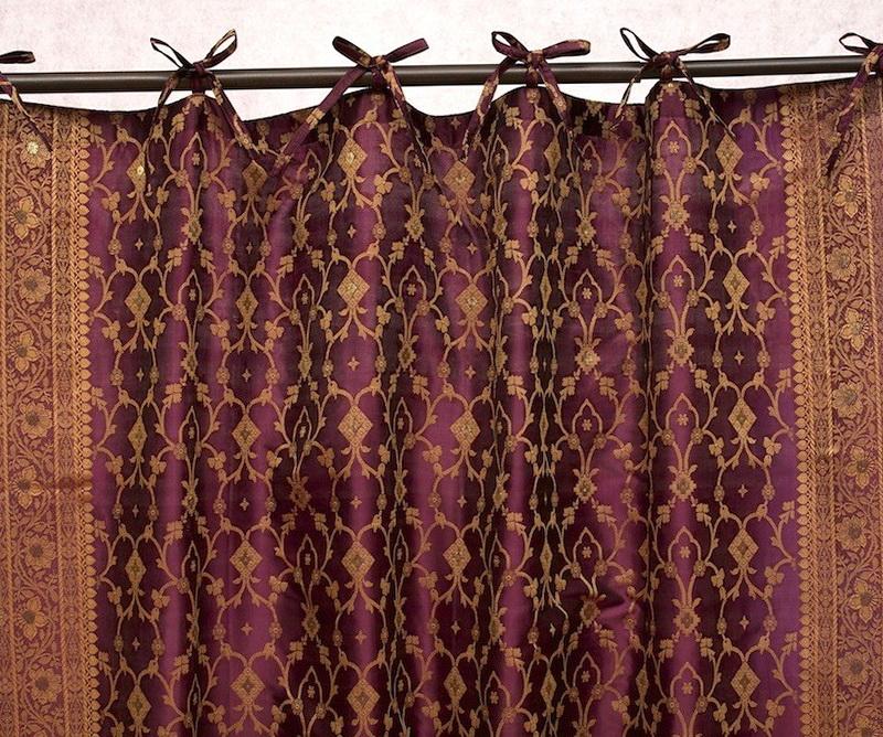 Sari Fabric For Curtains Home Design Ideas