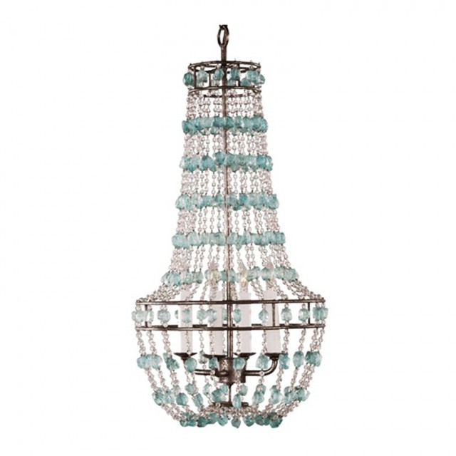 Sea Glass Chandelier Lighting