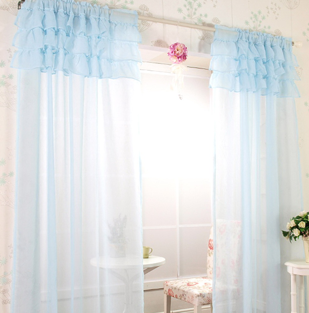Sheer Light Blue Curtains
