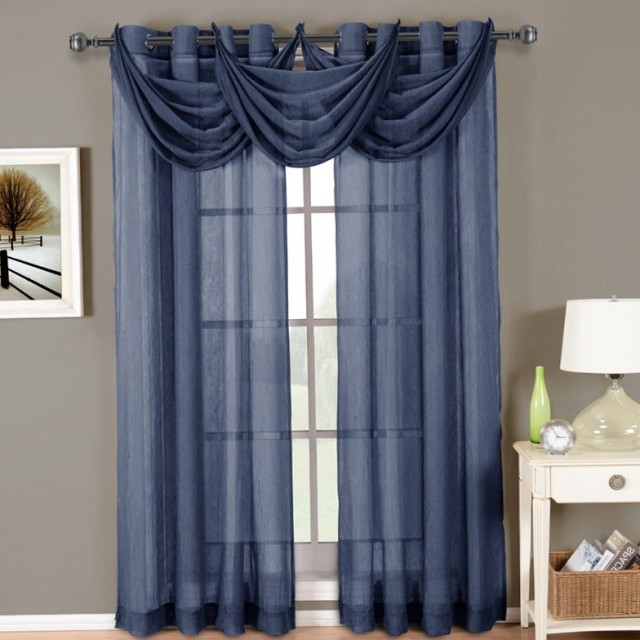 Sheer Navy Blue Curtains