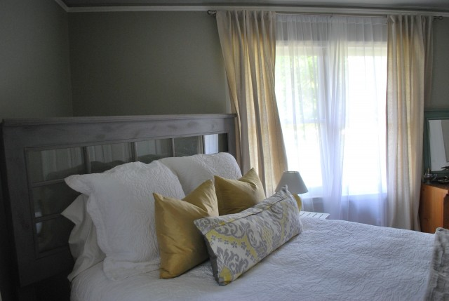 Sheer White Curtains In Bedroom