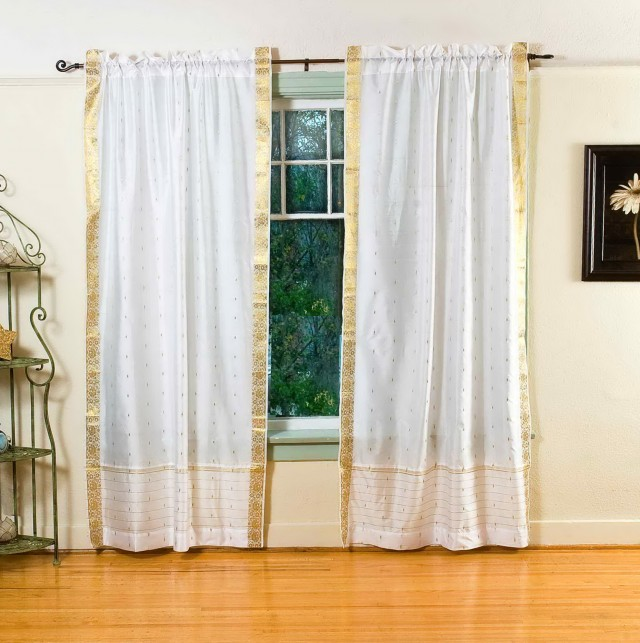Sheer White Curtains India