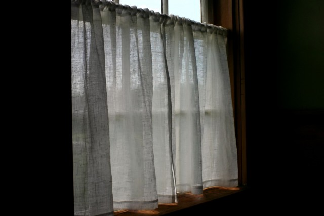 Sheer White Linen Curtains