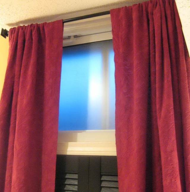 Short Red Window Curtains
