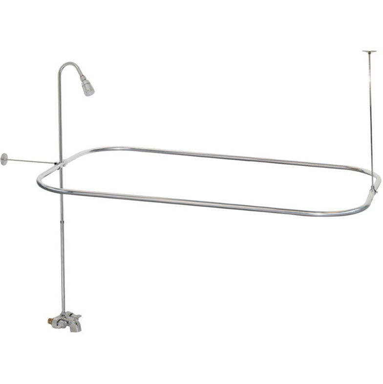 Shower Curtain Rods For Clawfoot Tubs Home Design Ideas