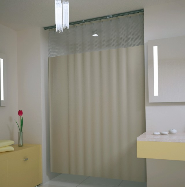 Shower Curtain Track System