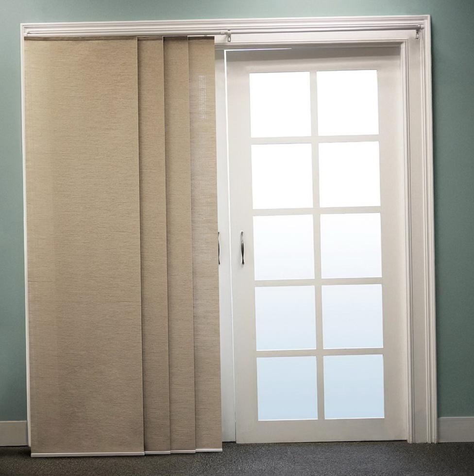 36 Fabulous Home Libraries Showcasing Window Seats: Sliding Door Panel Curtains