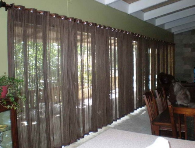 Sliding Glass Door Curtains Modern