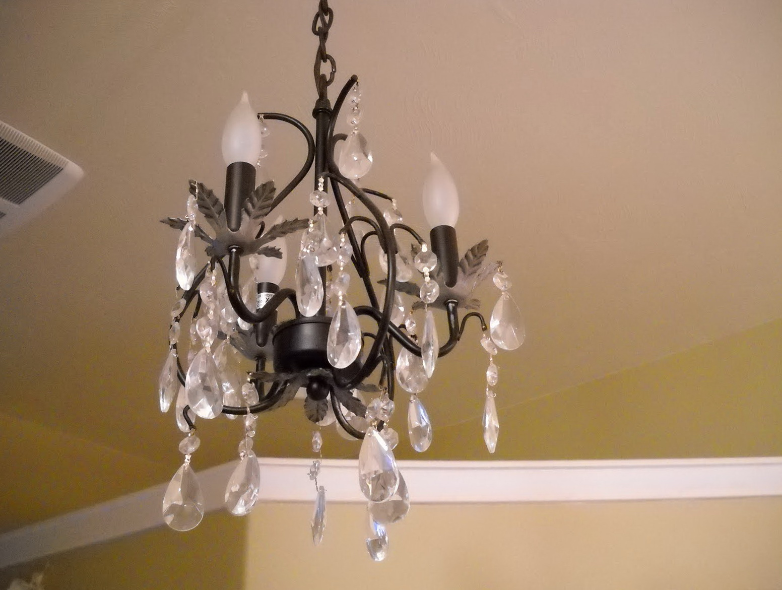 Small Antique Crystal Chandelier