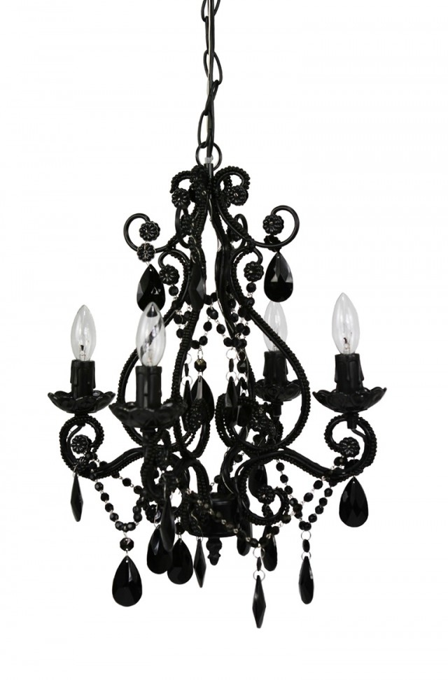 Small Black Chandelier For Bathroom