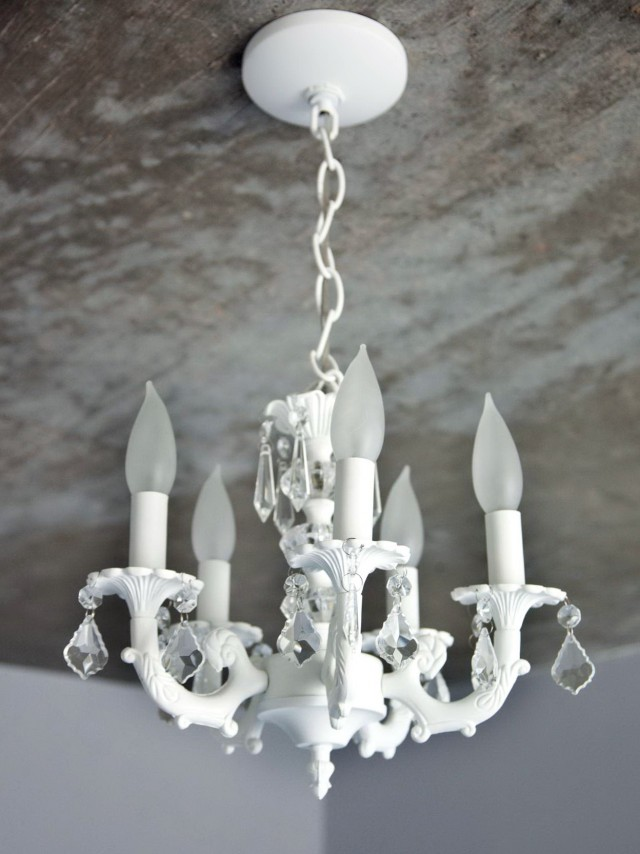 Small White Chandelier For Nursery