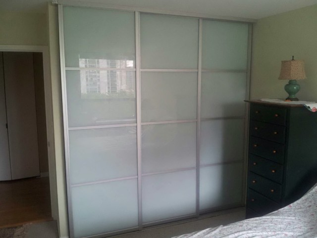 Three Panel Sliding Closet Doors