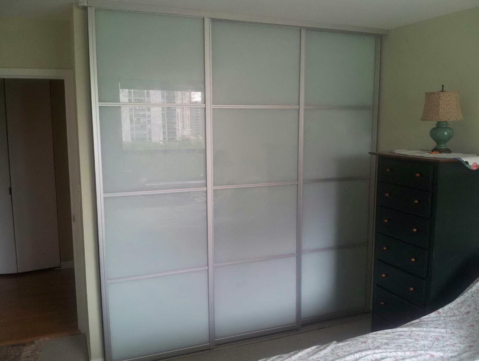 Three Panel Sliding Closet Doors Home Design Ideas