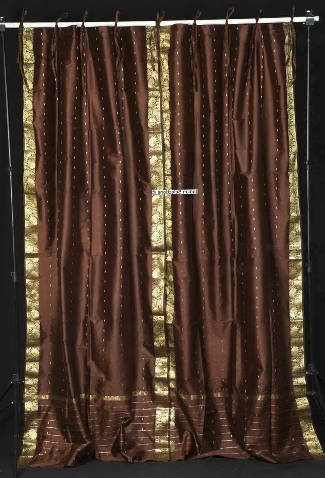 Tie Top Sheer Curtain Panels