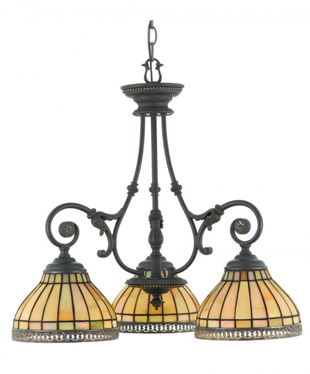 Tiffany Stained Glass Chandelier