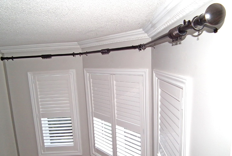 Traverse Curtain Rods For Bay Windows Home Design Ideas