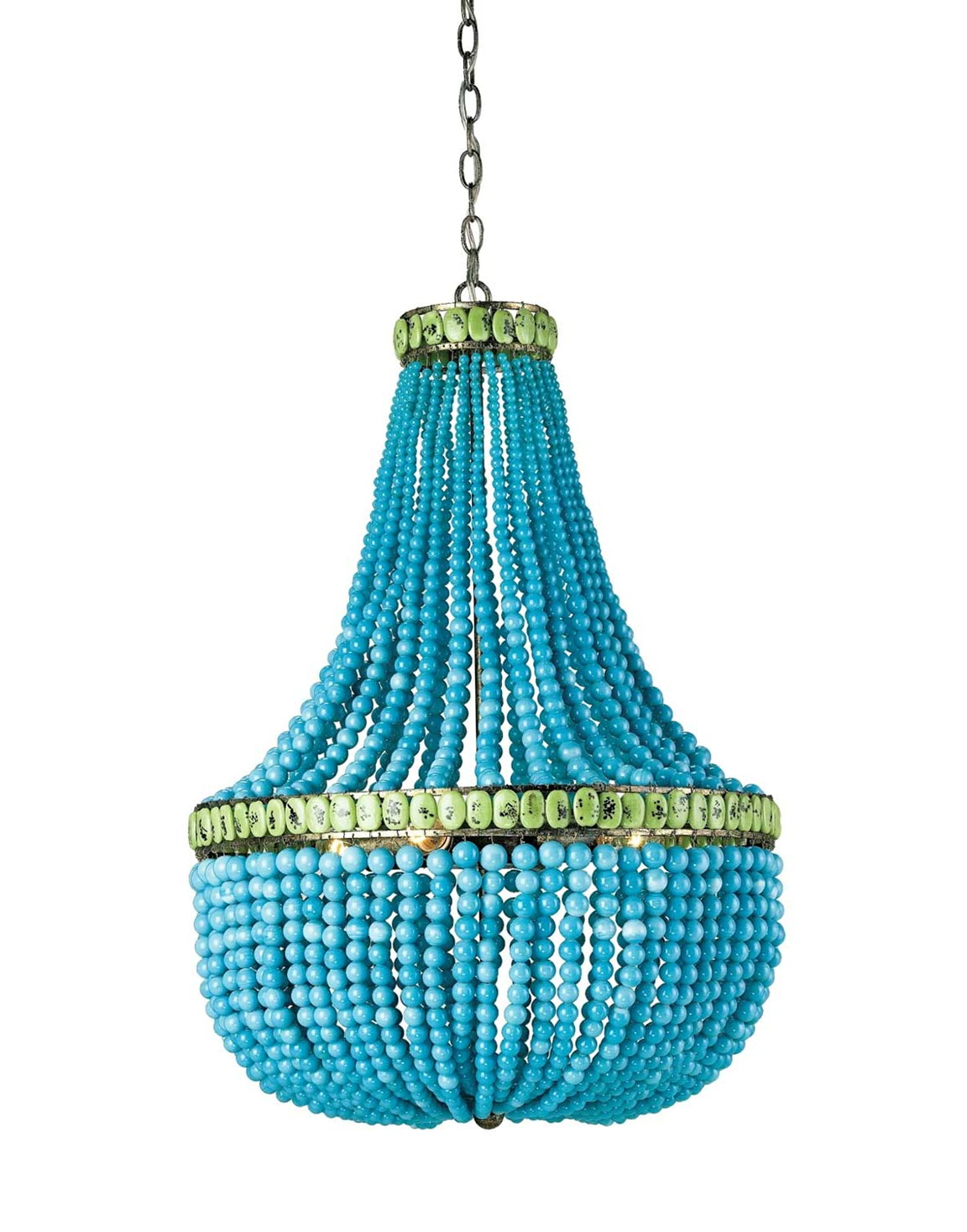 Turquoise Wood Bead Chandelier Home Design Ideas