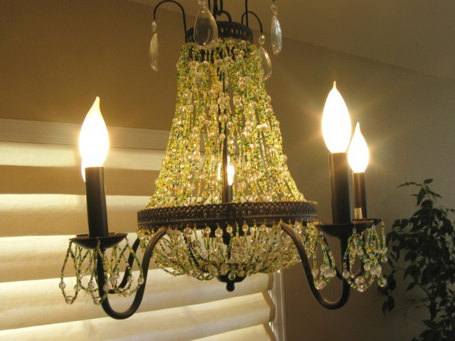 Water Bottle Flower Chandelier