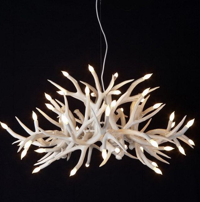 White Antler Chandelier Uk