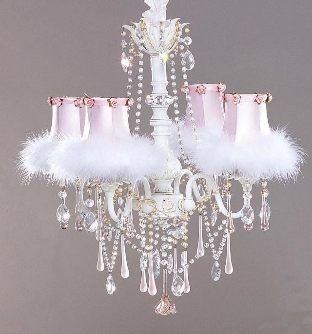 White Chandelier For Girls Room