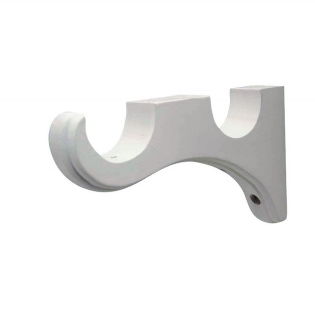 White Curtain Rod Brackets