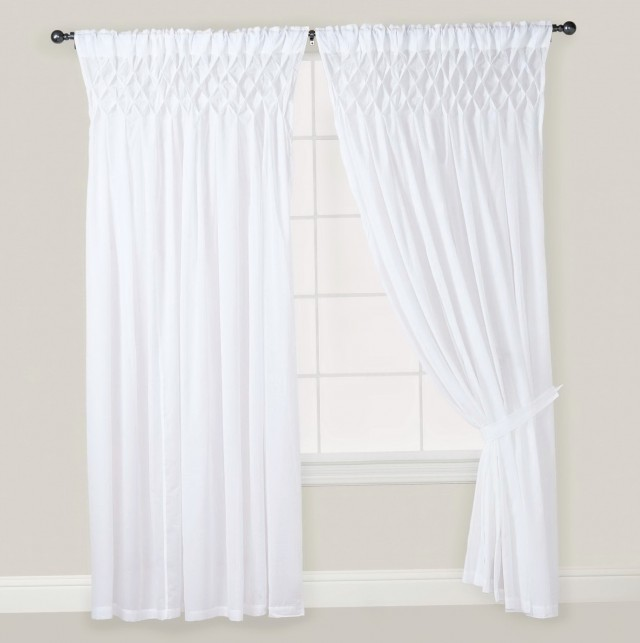 White Linen Curtains 108