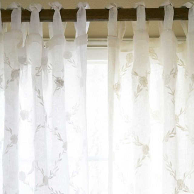 White Linen Curtains Sale