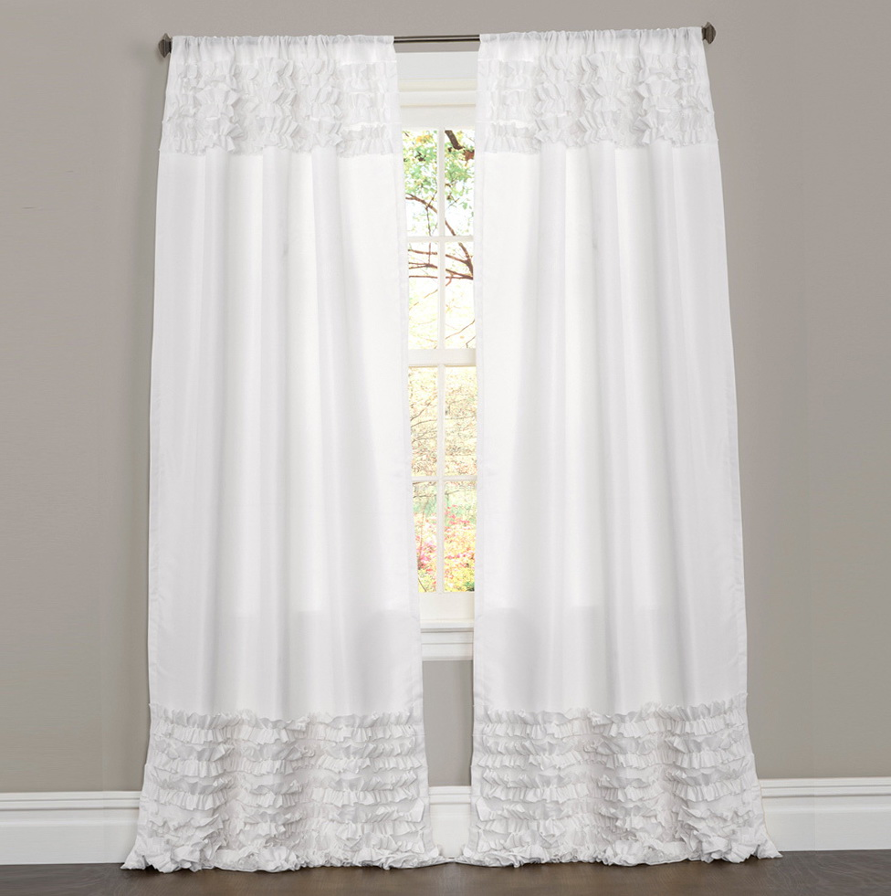 White Ruffle Curtains 96 Inch Home Design Ideas