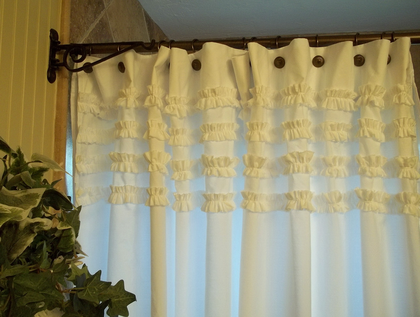 white ruffle curtains target home design ideas. Black Bedroom Furniture Sets. Home Design Ideas