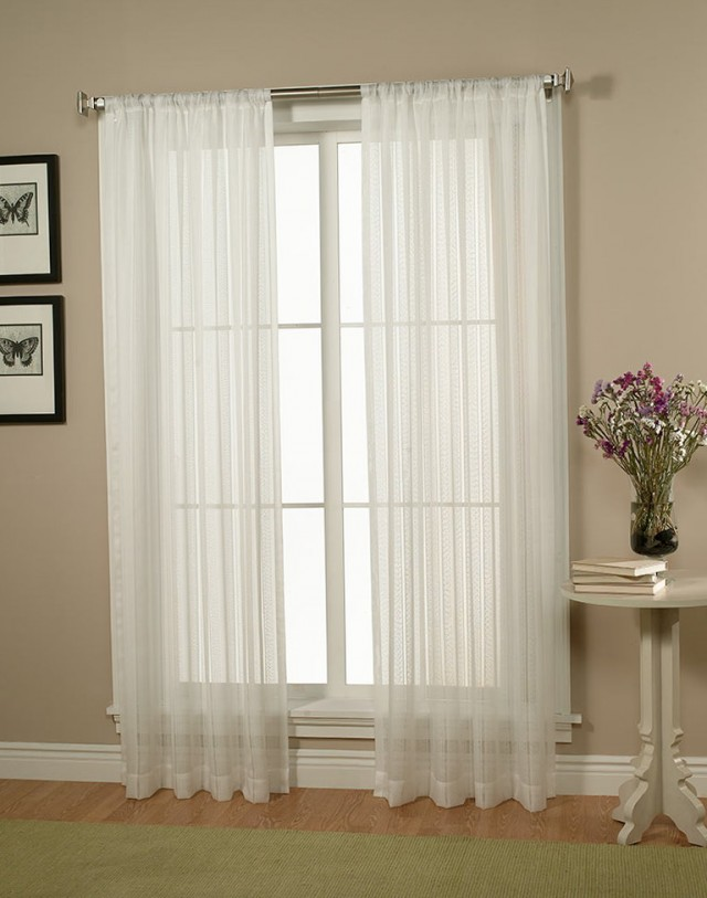 White Sheer Curtains 84