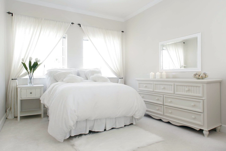 White Sheer Curtains Bedroom