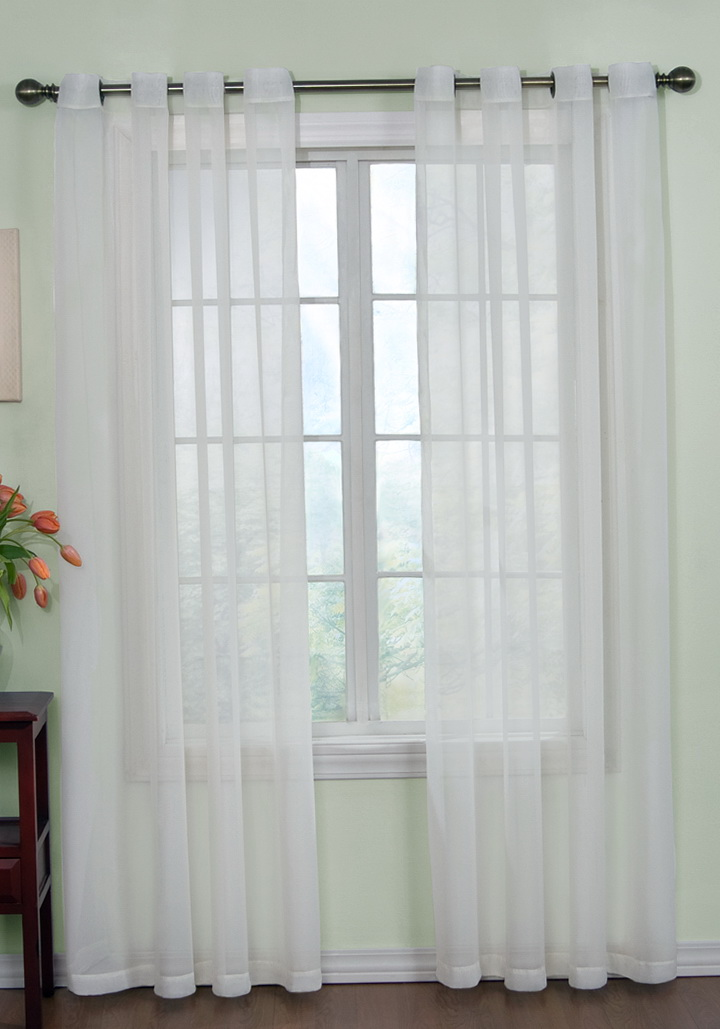White Sheer Curtains With Grommets Home Design Ideas