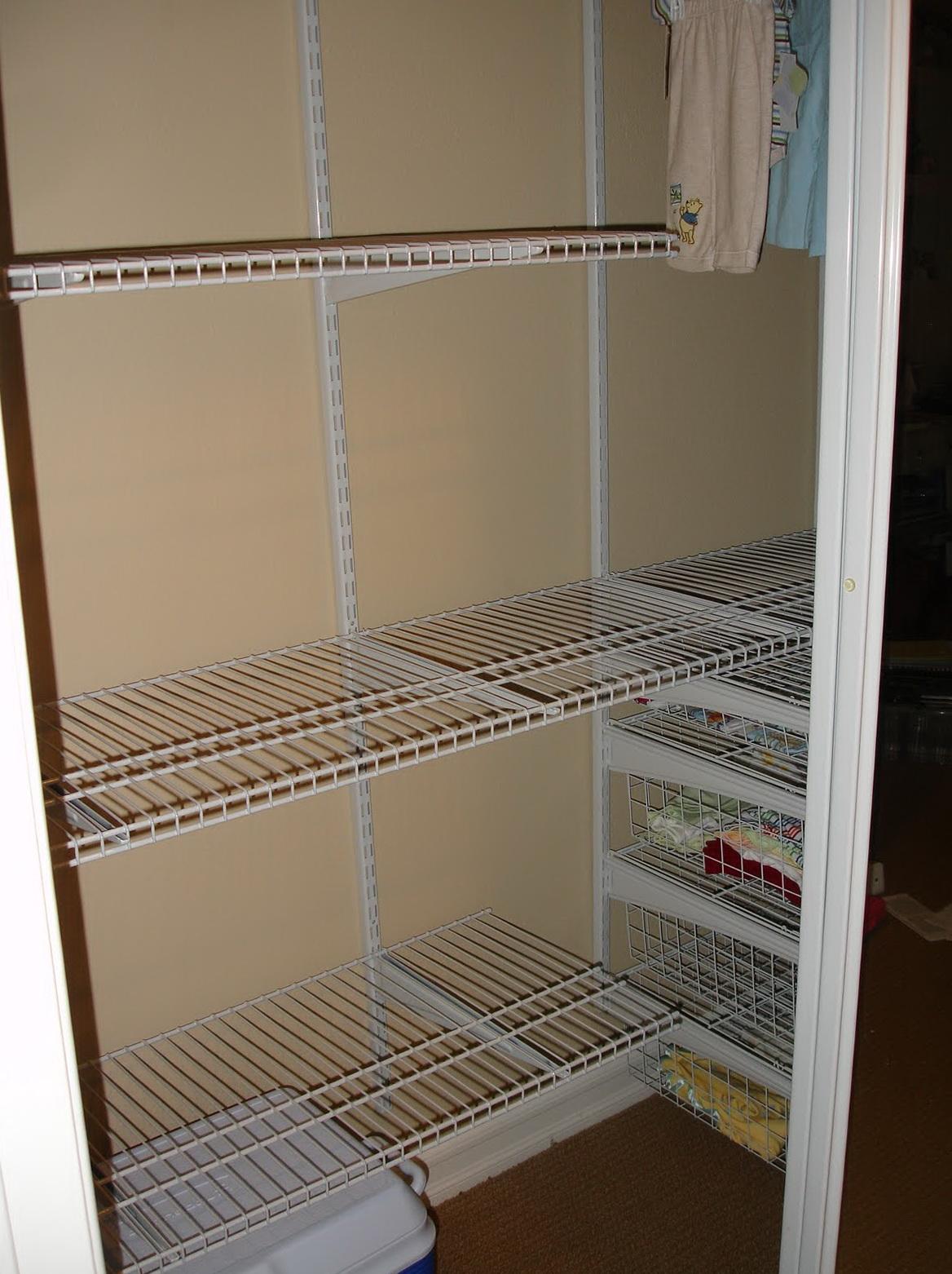 wire shelving units for closets   Home Design Ideas