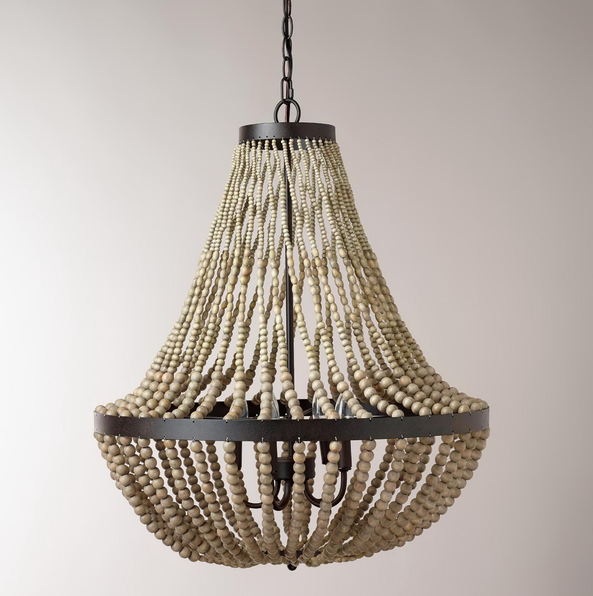 Wood Bead Chandelier Diy Home Design Ideas