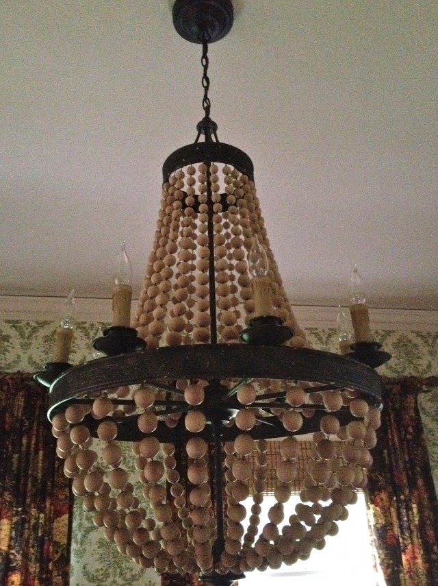 Wooden Bead Chandelier Pottery Barn