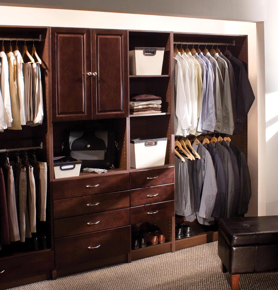 Wooden Closet Organizer Systems Home Design Ideas