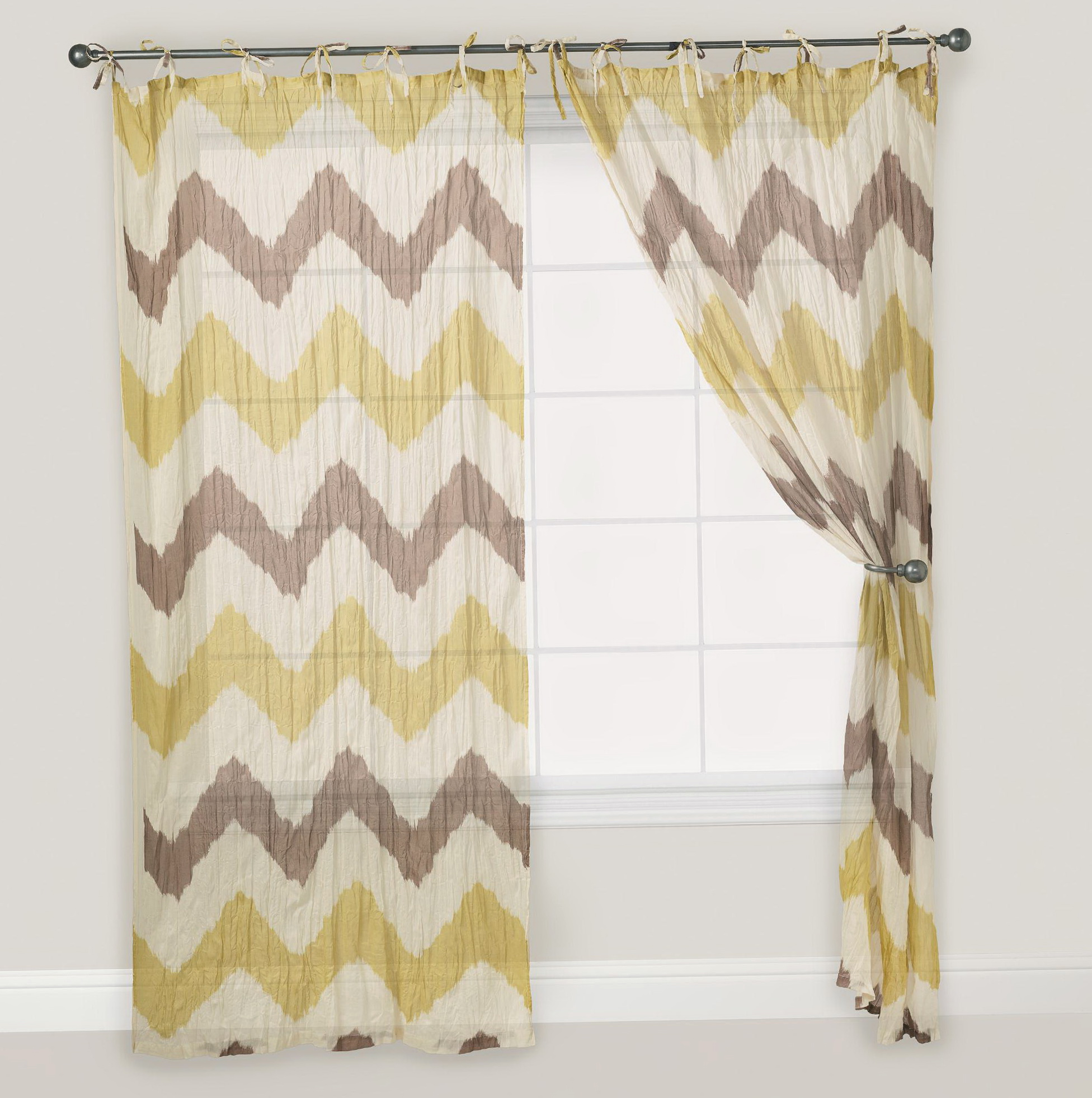 Kitchen Curtains Yellow And Gray: Yellow And Gray Chevron Curtains