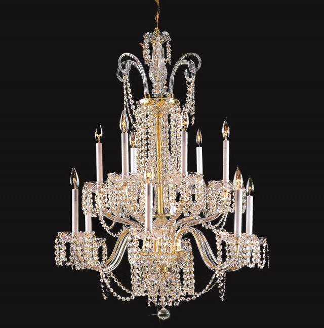 12 Light Crystal Chandelier