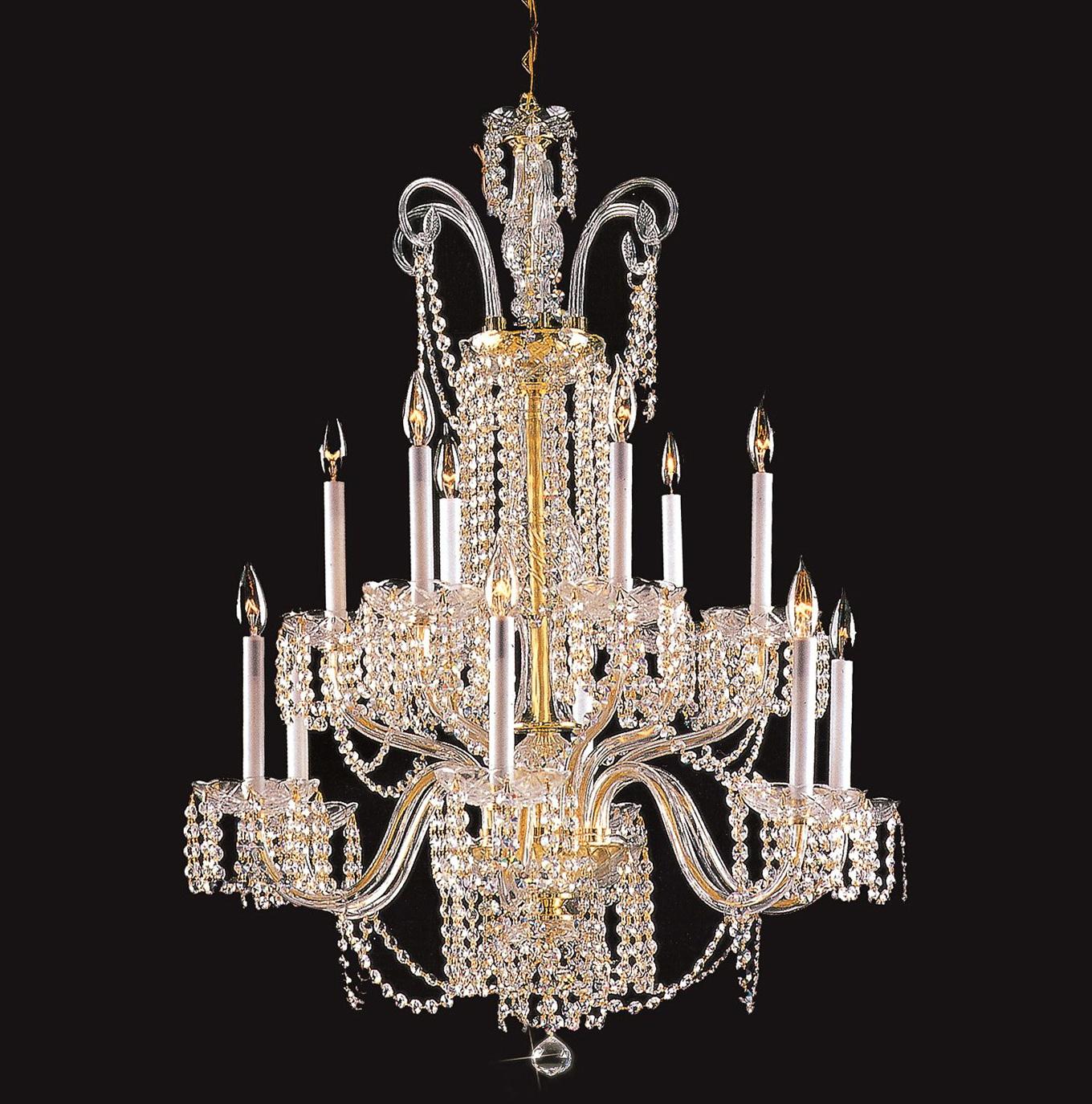 12 Light Crystal Chandelier