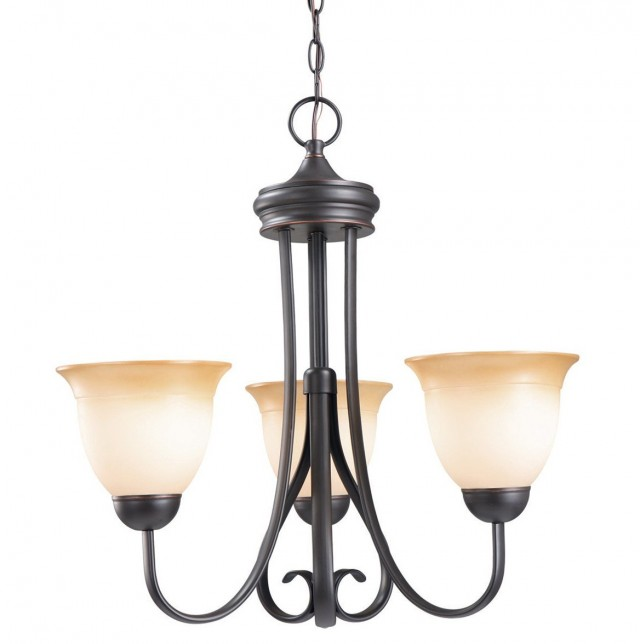 3 Light Chandelier Oil Rubbed Bronze