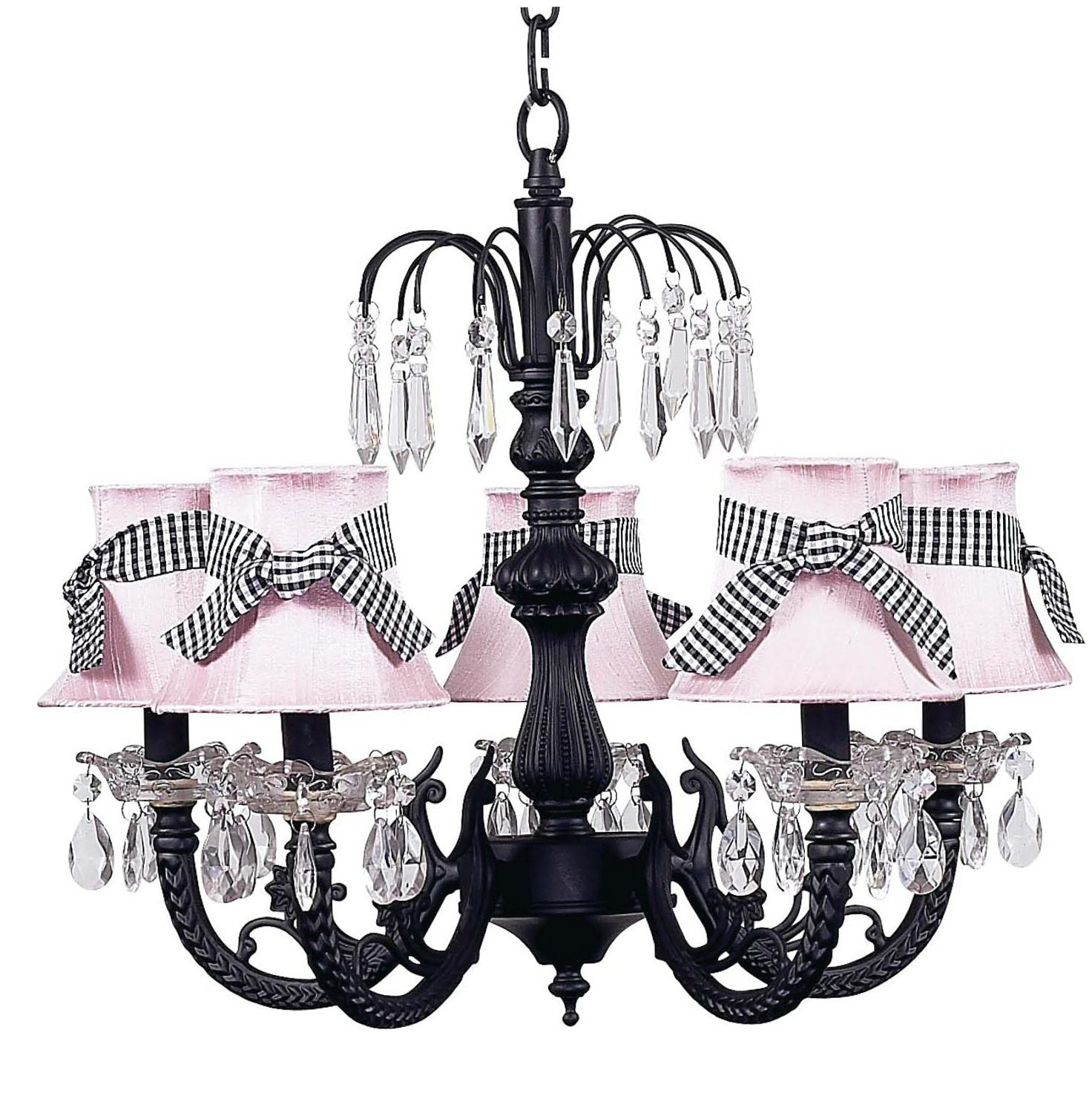 5 Arm Chandelier With Shades