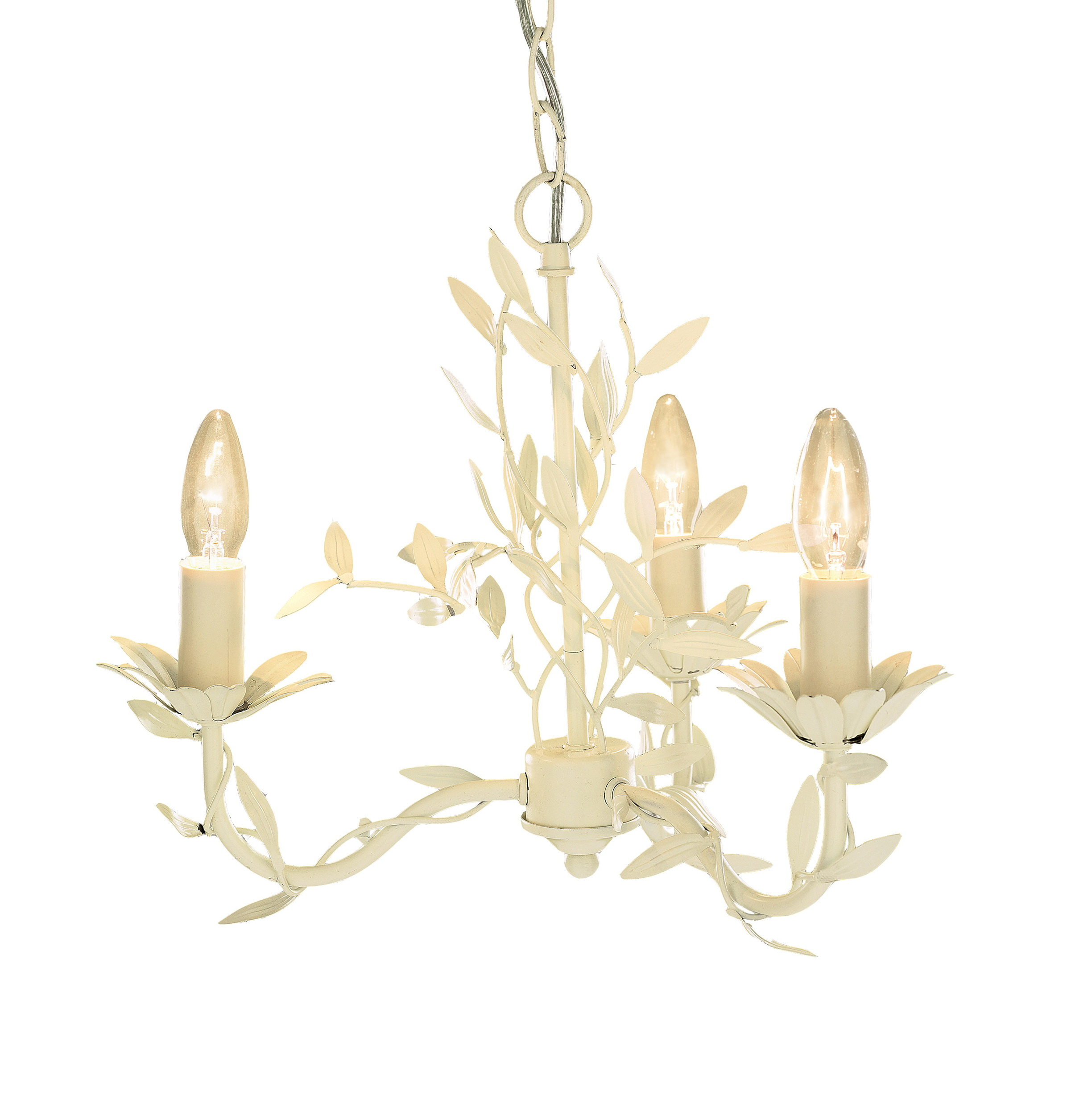 Aneela Cream 3 Light Chandelier