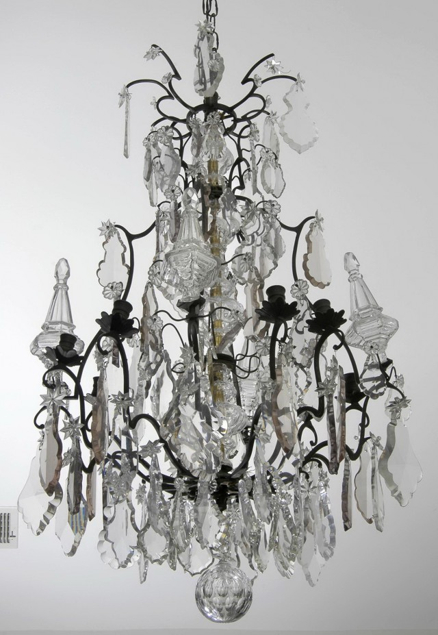 Antique French Crystal Chandelier