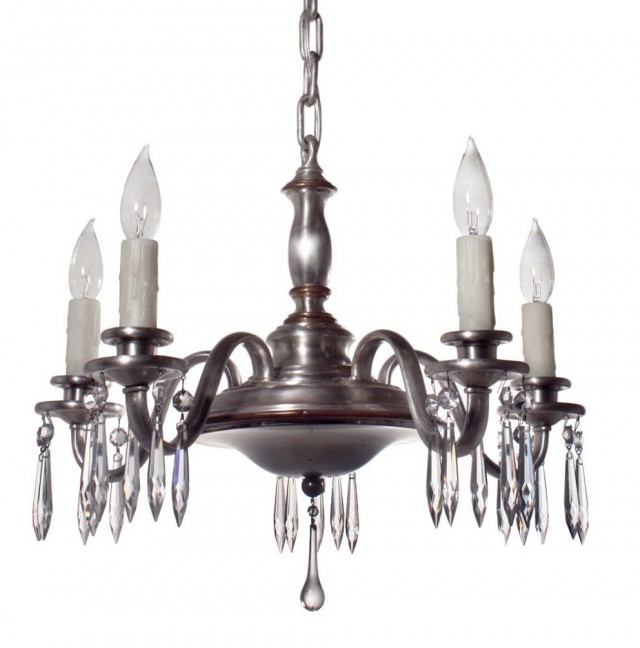 Antique Silver Plated Chandelier