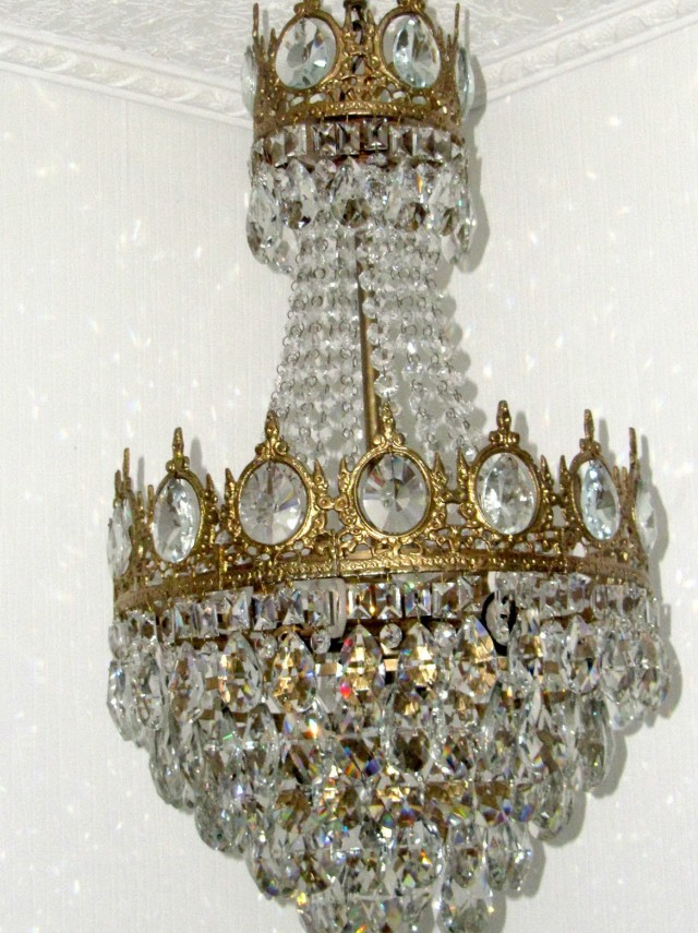 Antique Victorian Crystal Chandelier
