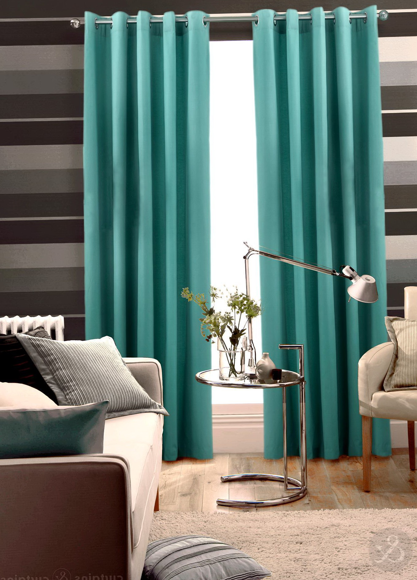 aqua blue and brown curtains home design ideas. Black Bedroom Furniture Sets. Home Design Ideas