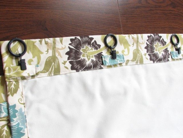 Back Tab Curtains Instructions