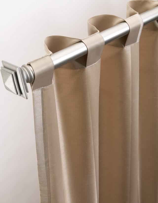 Back Tab Curtains On Traverse Rod