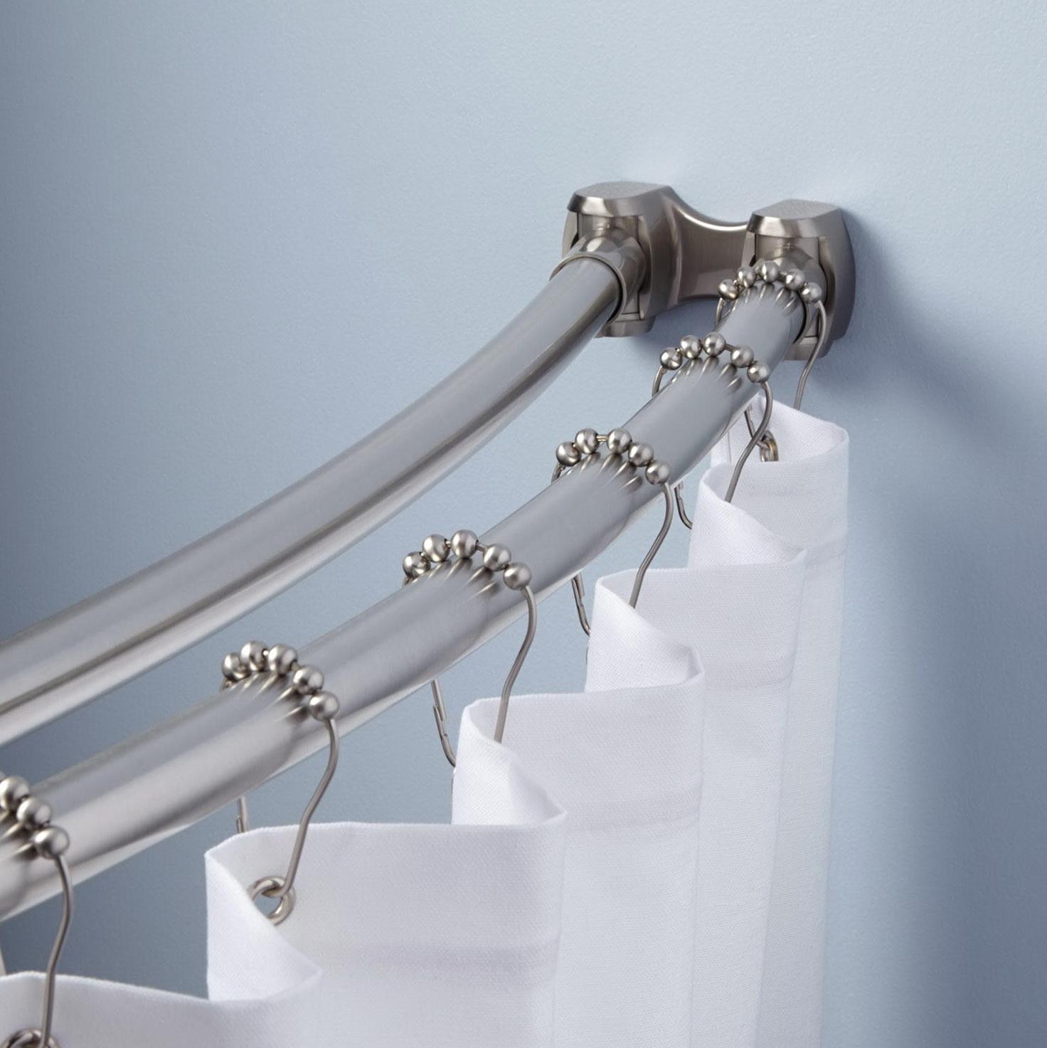Bathroom Curtain Rods Curved Home Design Ideas